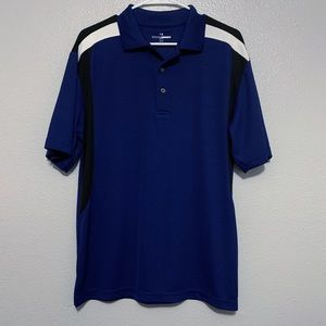 Grand Slam Golf Navy Blue, White, Black Polo